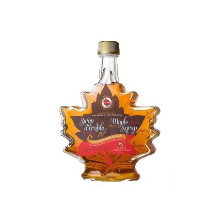 Amber Maple Syrup - Maple Leaf Glass Jar 250 ml