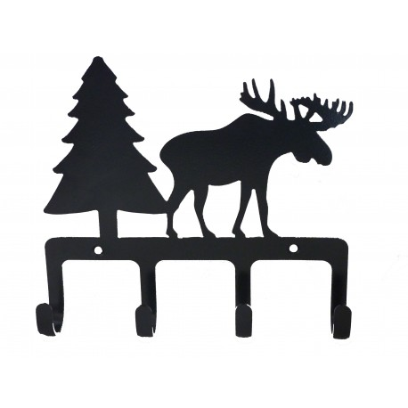 Hook Supports x 4- Moose and Fir Tree design in Iron